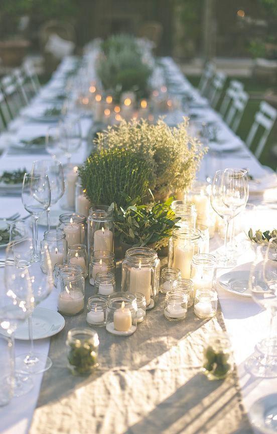 Les plus jolies tables de réception de mariage vues sur Pinterest
