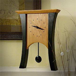 Black Cherry Mantel Clock with Pendulum