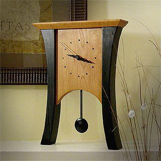 Black Cherry Mantel Clock with Pendulum