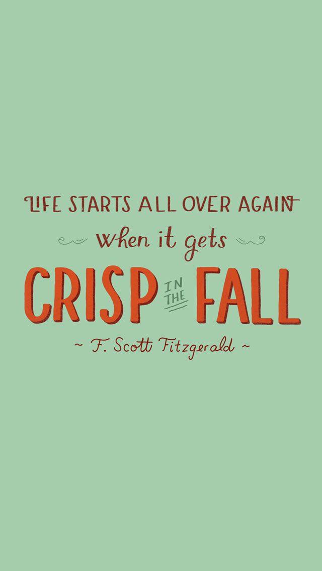 U0027Fallu0027 Scott Fitzgerald Quote Iphone Wallpaper Background Phone Lock Screen