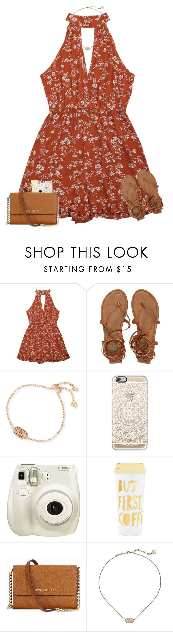 """""""help ! {rtd}"""" by mmadss ❤ liked on Polyvore featuring Billabong, Kendra Scott, Casetify, Fujifilm, ban.do and Michael Kors"""