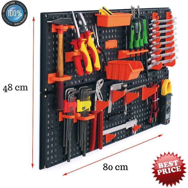 Universal Wall Plastic Bin Kit Garage Storage Pegboard 21pcs Warehouse Shelf NEW #StolmetStorageCollections