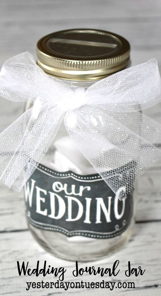 Our Wedding Journal Jar: Preserve those sweet moments as an engaged couple with this easy Our Wedding Journaling project in a mason jar.
