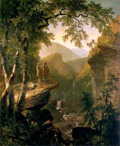 Kindred Spirits, 1849      Artist: Asher Durand  Movement - Hudson River School