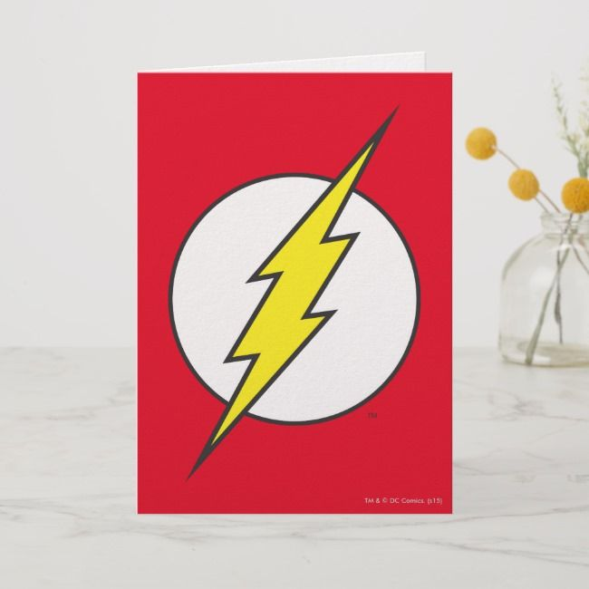 The Flash Lightning Bolt Card Zazzle Com With Images Flash
