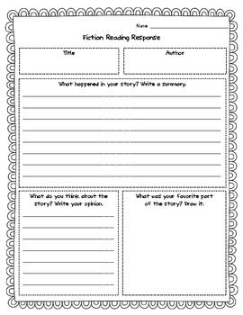 FREEBIE! These versatile reading responses can be used for any fiction story! Consider using these literature responses for reading workshop, basal stories, chapter books, read alouds, homework, and substitutes. Different reading response variations are included to meet your needs. Also included are 2 anchor charts for summaries and opinions.