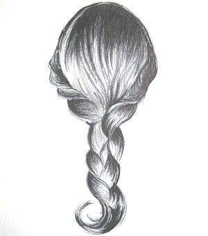 how to draw braided hair