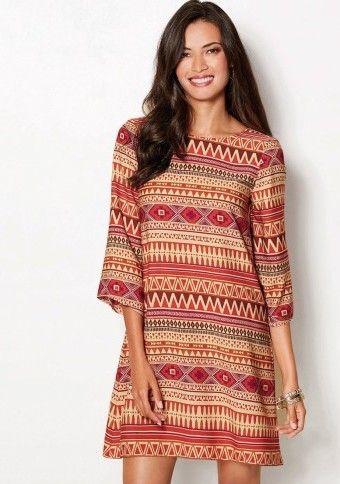Šaty s etno vzorem #ModinoCZ #modino_cz #modino_style #style  #fashion #spring #summer #etno #dress