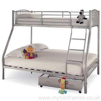Oslo Three Sleeper Silver Bunk Bed from #MyBedFrames