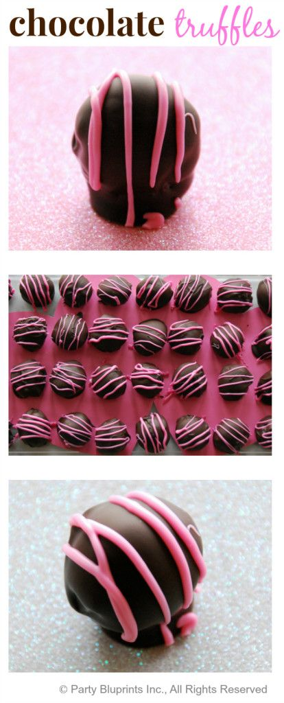Easy Homemade Chocolate Truffle Valentine's Day Recipe! #valentines #plantoparty