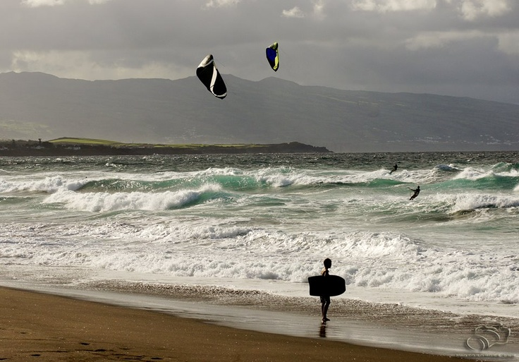Kitesufing, São Miguel Island, Azores, Portugal, http://on.fb.me/JCMeLx