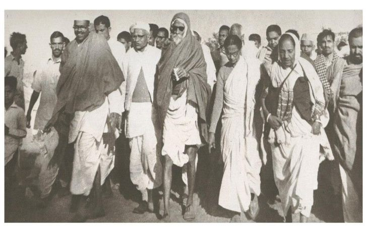 "Acharya Vinoba Bhave (India), ""Bhoodan movement"", Pochampally village, India, 1951."
