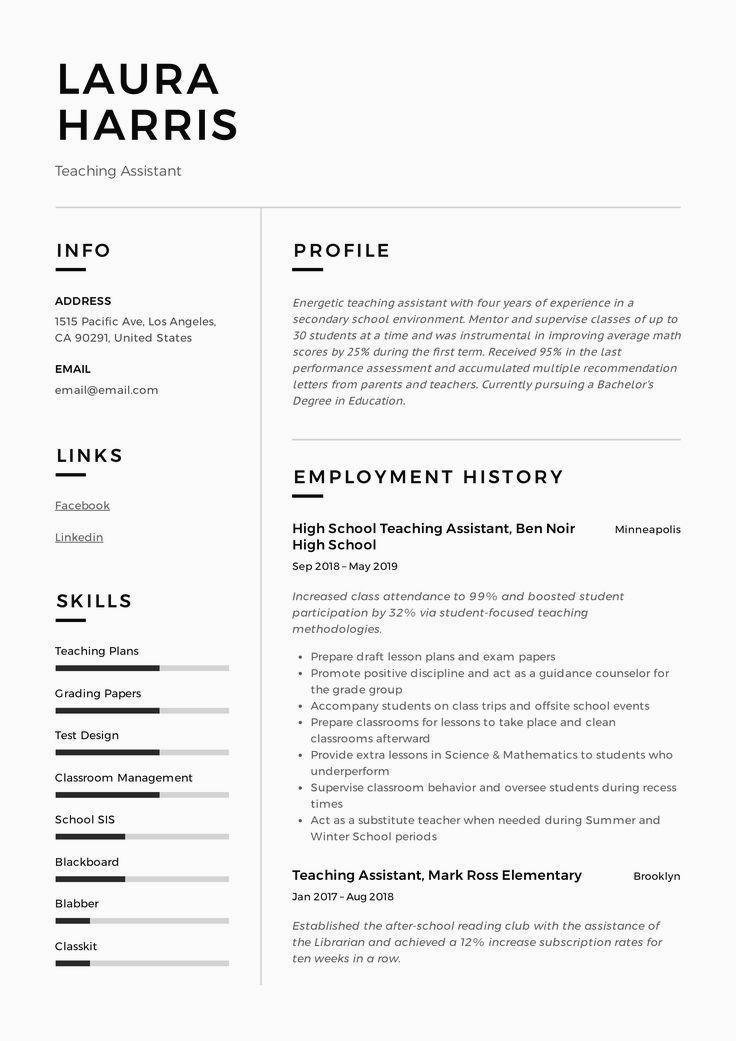 cvtemplate in 2020 Resume examples, Resume skills