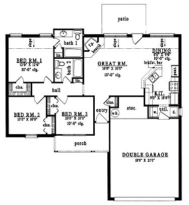 Home Plans With Guest House   Home Plans Homepw15582 1 138 Square Feet 3 Bedroom 2 Bathroom