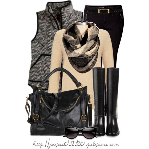 """""""Black and Cream"""", created by jaycee0220 on Polyvore"""