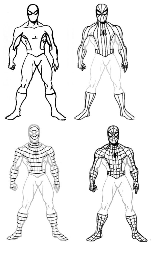 How to Draw Caricatures Step by Step | How To Draw Spiderman