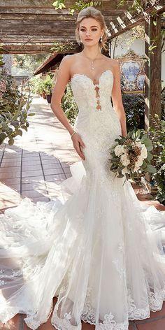 Wwww Organza Sweetheart Neckline Mermaid Wedding Dresses