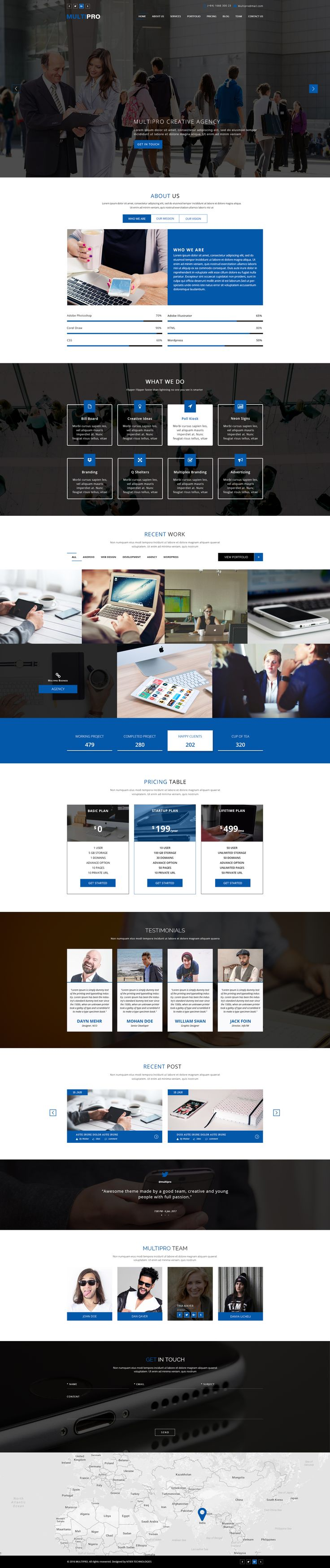 MULTIPRO - Creative Onepage PSD Template by n-tier | ThemeForest