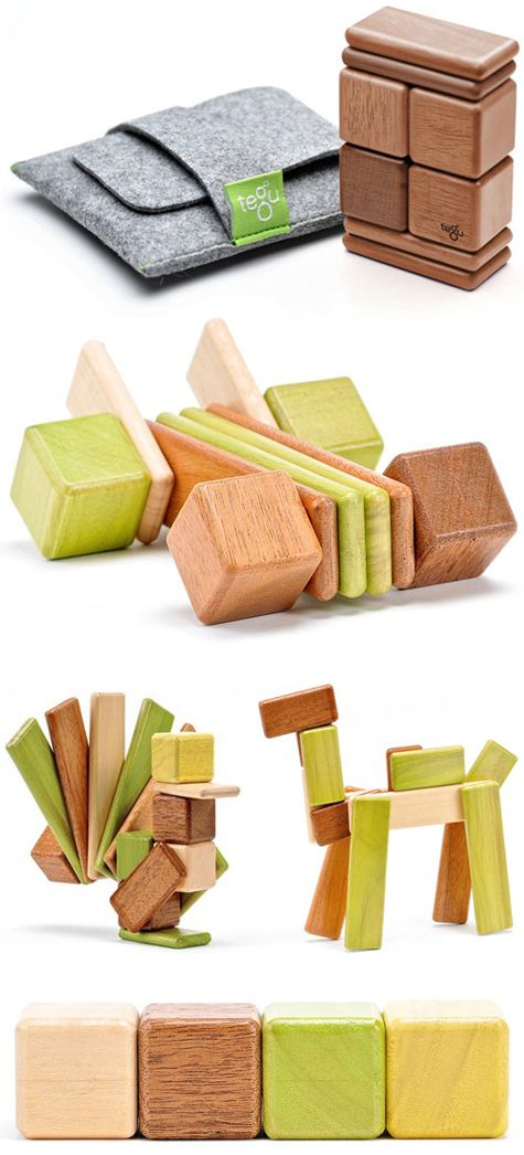 magnetic wooden blocks > by tegu
