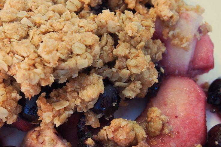 Croustade aux pommes et aux bleuets | .recettes.qc.ca