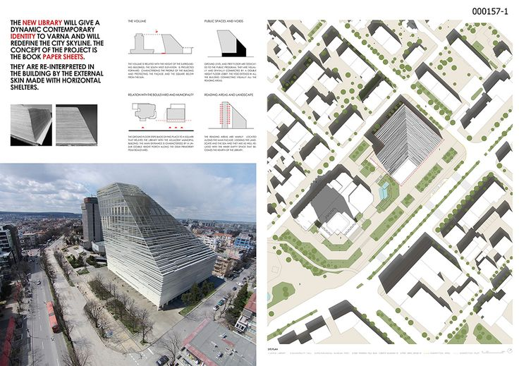 Library of Varna  Project by: Mario Cottone, Italy