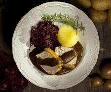 Rezept Krustenbraten vom Duroc Schwein in Bierdampf gegart / Schweinebraten  von annibobbi - Rezept der Kategorie Hauptgerichte mit Fleisch