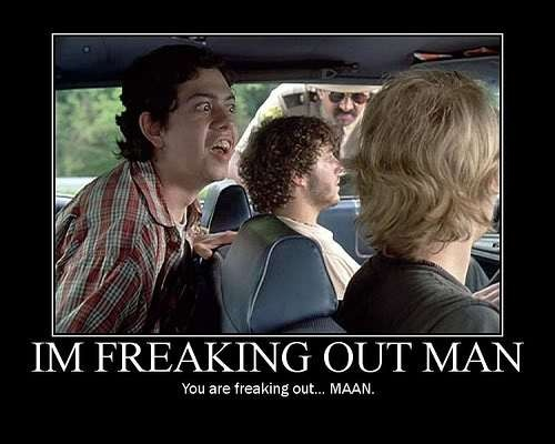 I'm freaking out man ~ Super Troopers #movie #quote #SuperTroopers