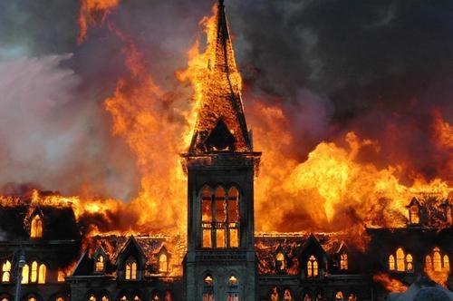 Alma College fire, St. Thomas, Ontario