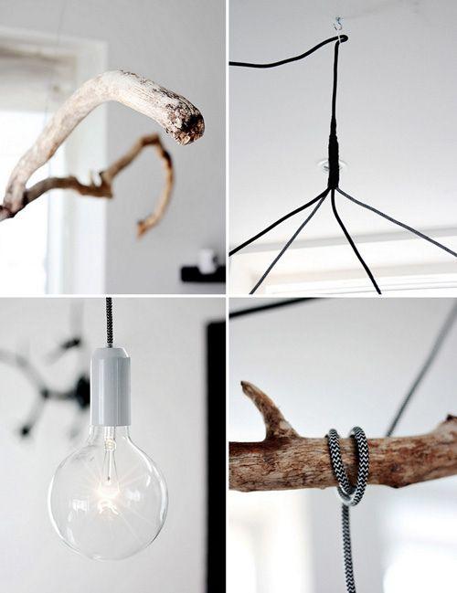 Handmade Home: Affordable Branch Pendant