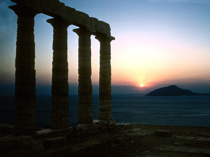 Sounion at sunset, one of my favorite places on earth.