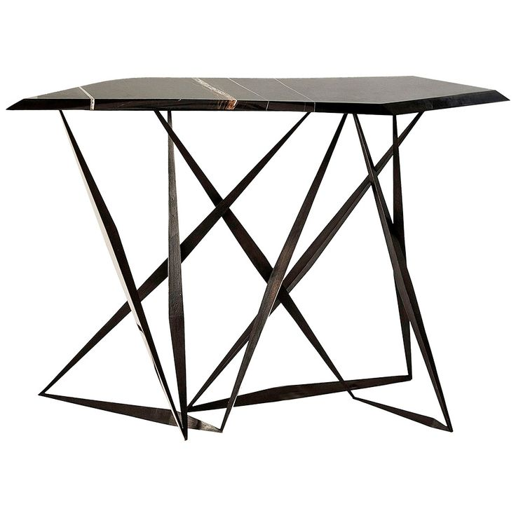 """Tango"" Bronze and Marble Console Table by Achille Salvagni 
