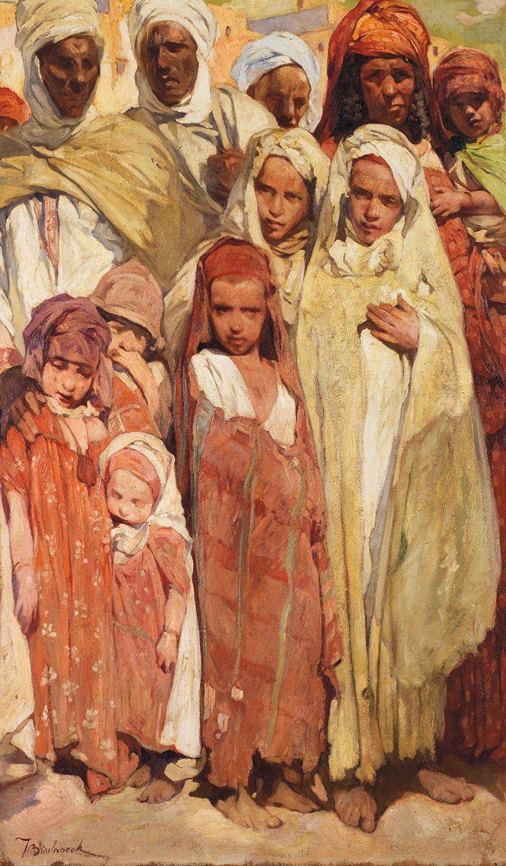 Jules Van Biesbroeck (Belgian, 1873-1965). Family watching the procession