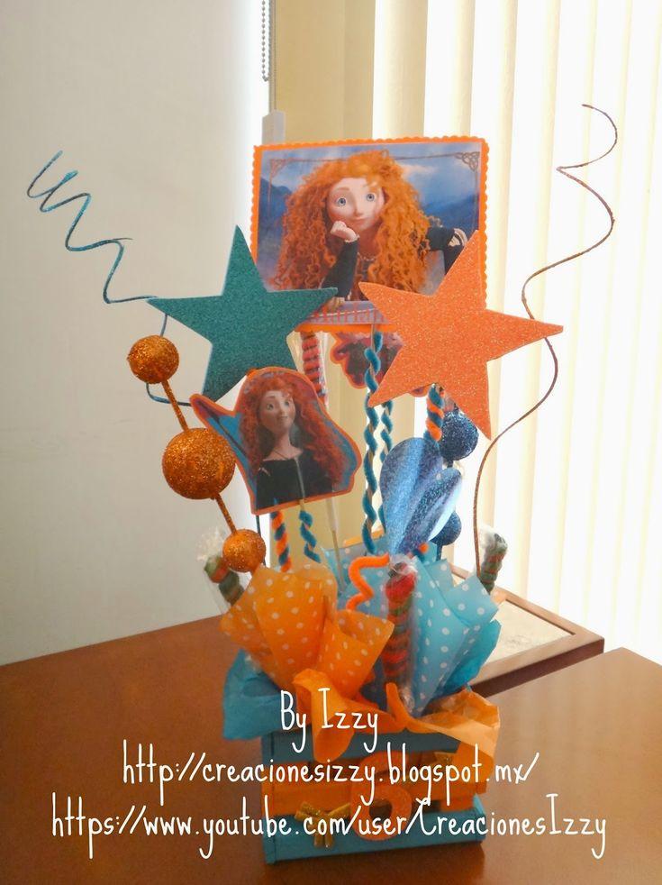 Creaciones Izzy: Centros de mesa de la Princesa Valiente