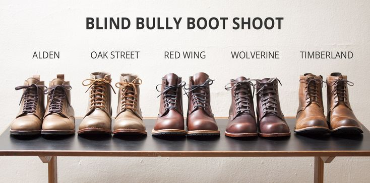 Comparing Alden Cap Toe Boots, Oak Street Cap Toe Boots, Red Wing Beckman (Gentleman Travelers), Wolverine 1000 Mile Boots, and Timberland Earthkeepers