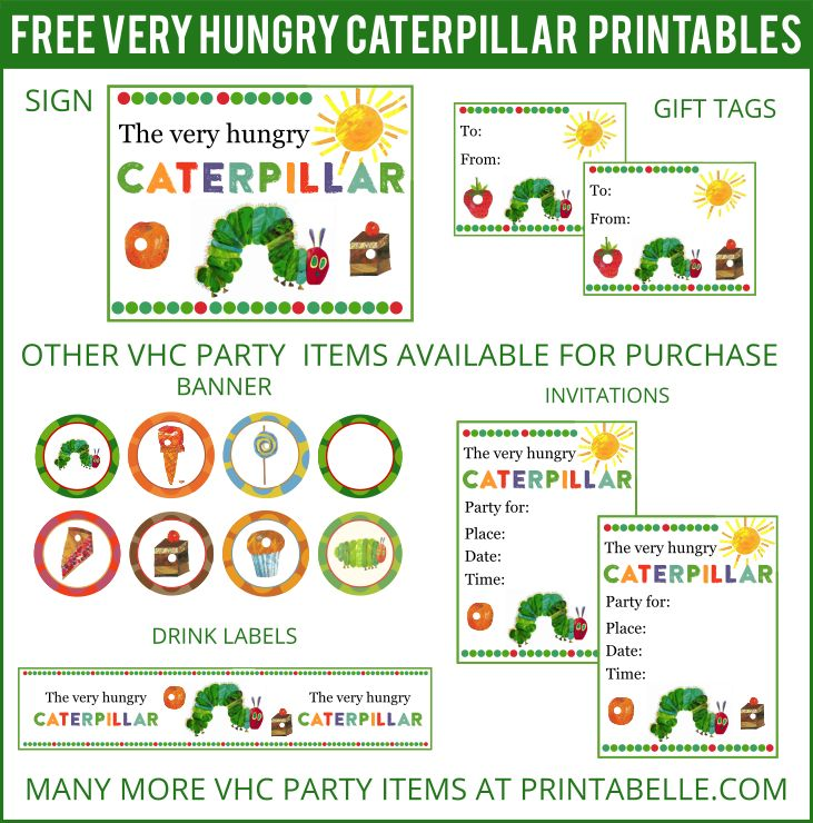 Free Very Hungry Caterpillar Printables and more!