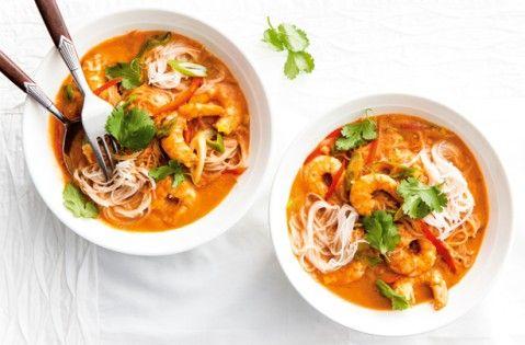 Thai prawn curry noodles recipe - goodtoknow