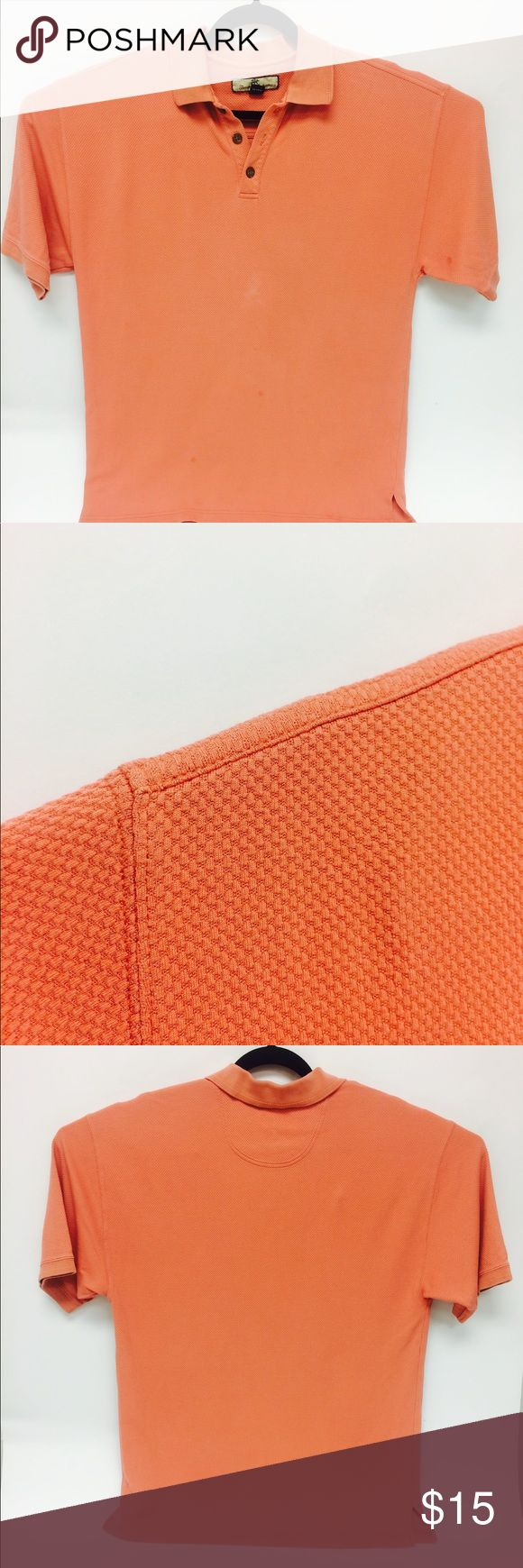 Tommy Bahama Orange Silk/ Cotton Polo Shirt In excellent gently used condition. Tommy Bahama Shirts Polos