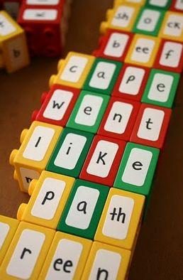 Seu filho esta aprendendo a ler?  Faça um brinquedo educativo com LEGO!