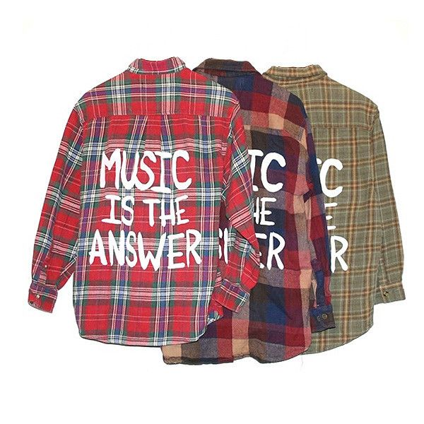 It's true. Shop the look at NYLONshop http://shop.nylonmag.com/collections/whats-new/products/music-is-the-answer-vintage-flannel