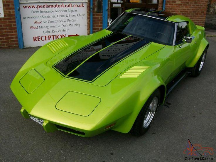 1975 Chevrolet L82 Corvette Stingray C3 5.7Ltr Chevy V8 HotRod in Pearl Green