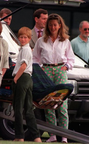 June 08, 1997: Prince Harry watched his father, Prince Charles play in a polo…