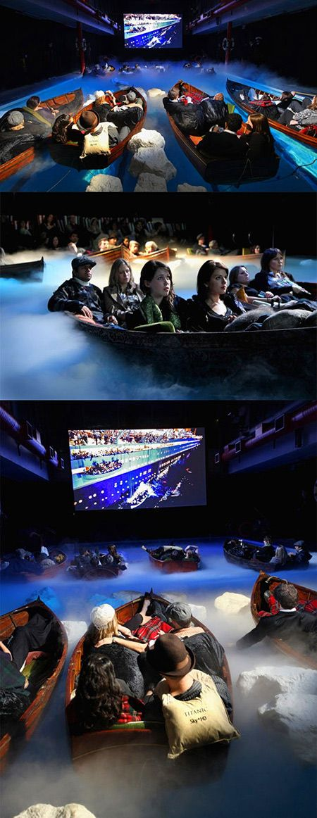 Possibly the coolest way to watch Titanic, literally. This is a real Titanic-themed theater in France.