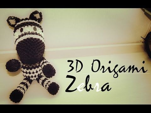 How to 3D Origami Zebra Tutorial [Part 1] - YouTube