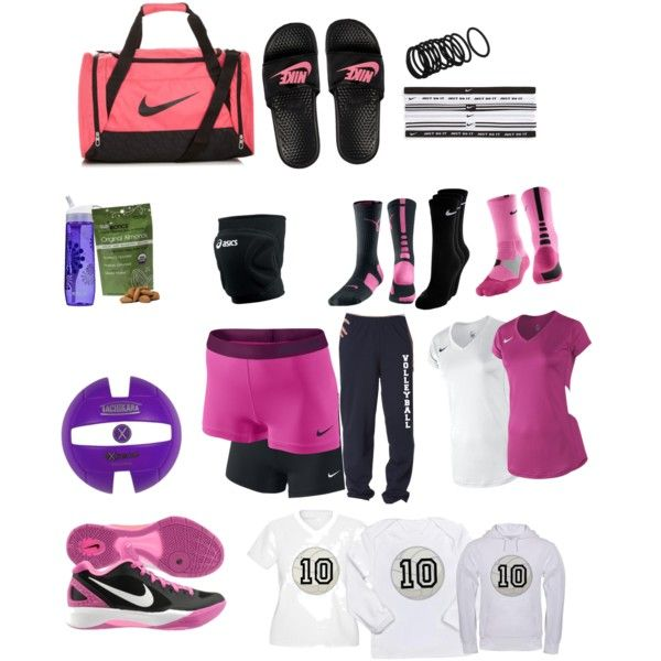 This is what I would totally have in my bag during volleyball season! Just maybe Blue and purple not pink. :)