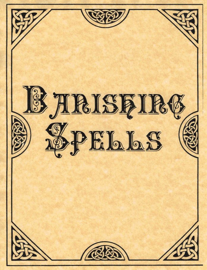 Book Of Shadows Cover Ideas ~ Banishing spells cover page divider for book of shadows