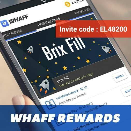[WHAFF]  Download WHAFF Rewards, put the invitation code : [ EL48200 ] and get $0.300!!! https://play.google.com/store/apps/details?id=com.whaff.whaffapp