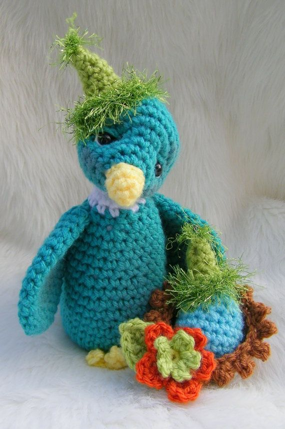 Crochet Pattern Bird by Teri Crews instant download PDF format