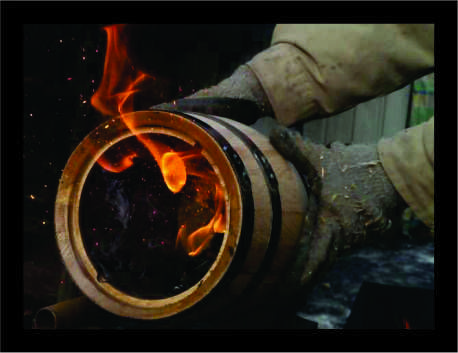Image of our barrels toasted inside www.barbarrels.com.au