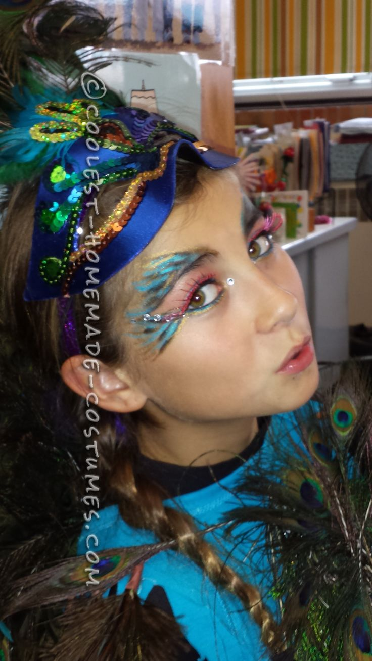 Beautiful Homeamde Peacock Costume for a Girl… Coolest Halloween Costume Contest