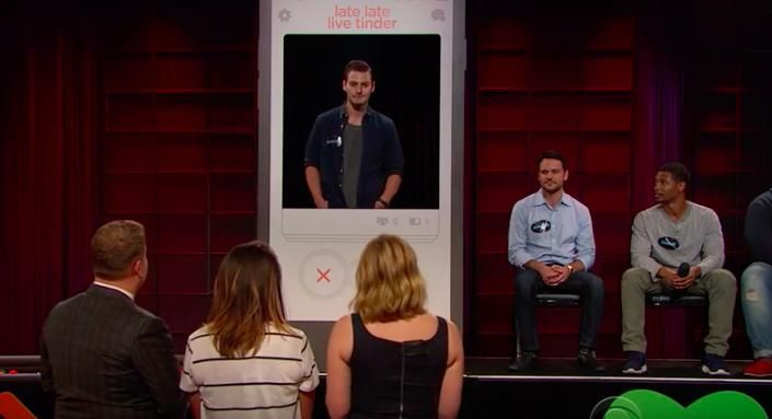 Chelsea Handler And James Corden Play Matchmaker With A Life-Size Game Of Tinder . UPDATE LOVE  To Love to  Love Theme  Add Love  Love Web ... in : http://ift.tt/1pzXT73